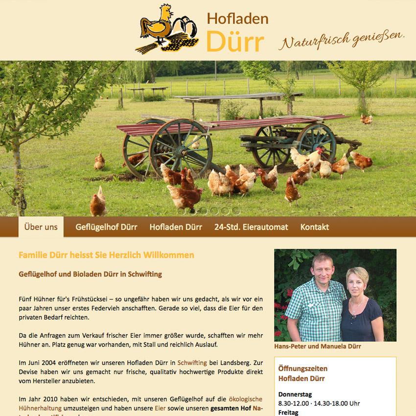 Internetseite Hofladen Schwifting