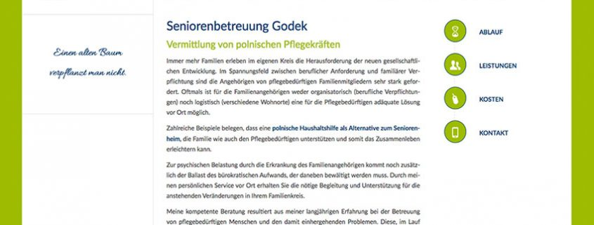 Website Seniorenbetreuung Landsberg