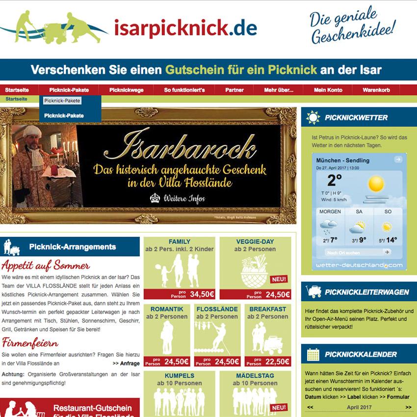 Website Isarpicknick München