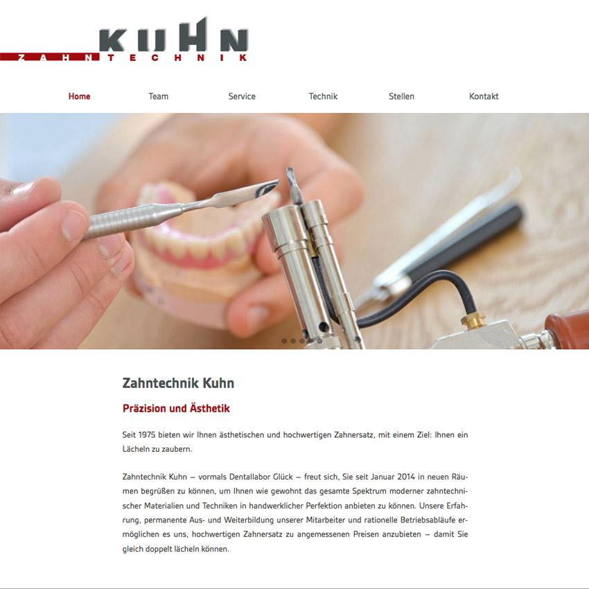 Website Zahntechnik Buchloe