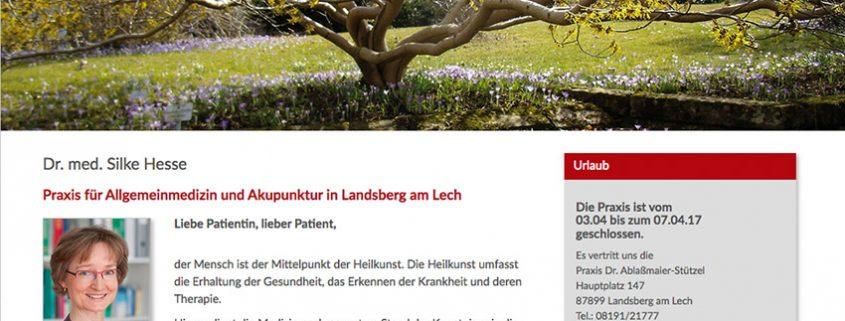 Internetseite Arztpraxis Landsberg