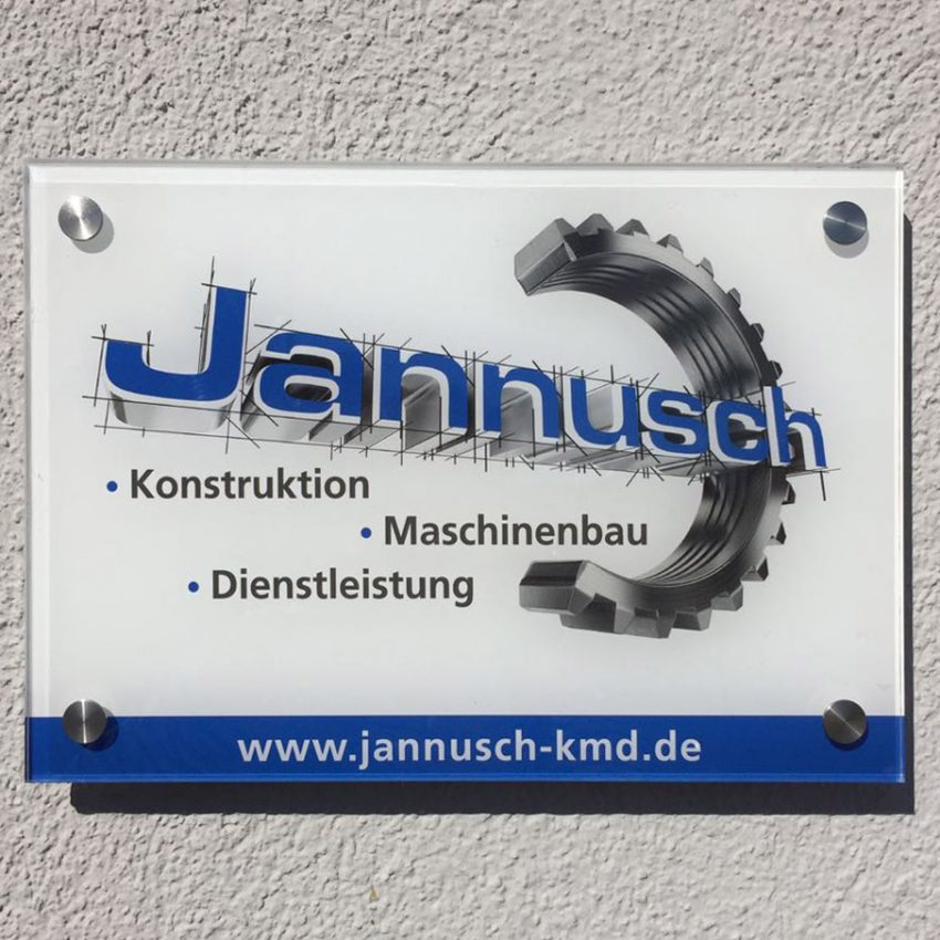 Acrylglaschilder Landsberg, Igling