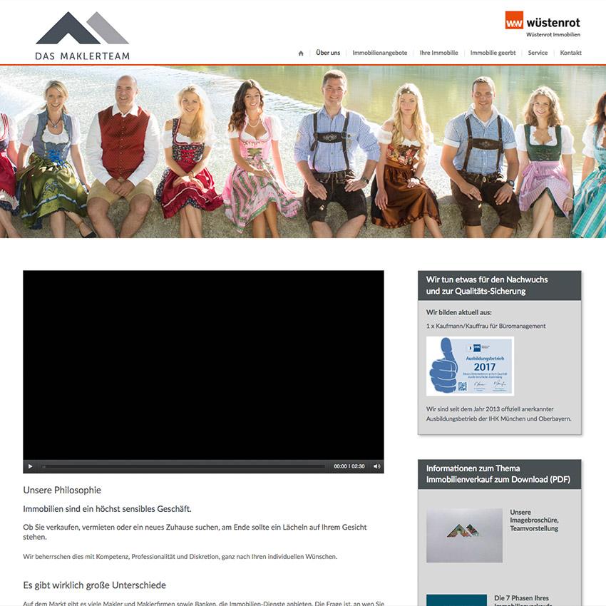 Website Makler Landsberg Wüstenrot Immobilien