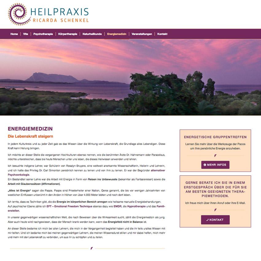 Internetseite für Heilpraktikerin München