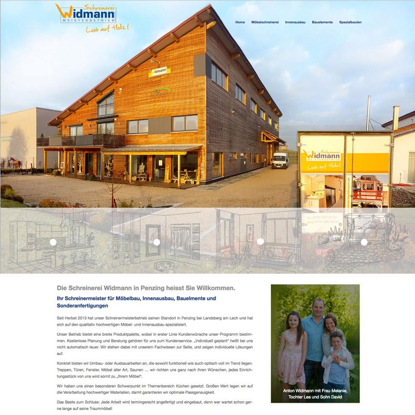 Website design Schreinerei