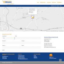 Internetseite mit Kontaktformular