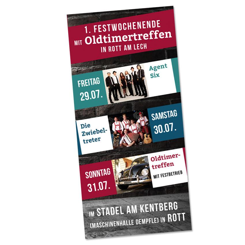 Gestaltung Flyer Plakate Veranstaltungen