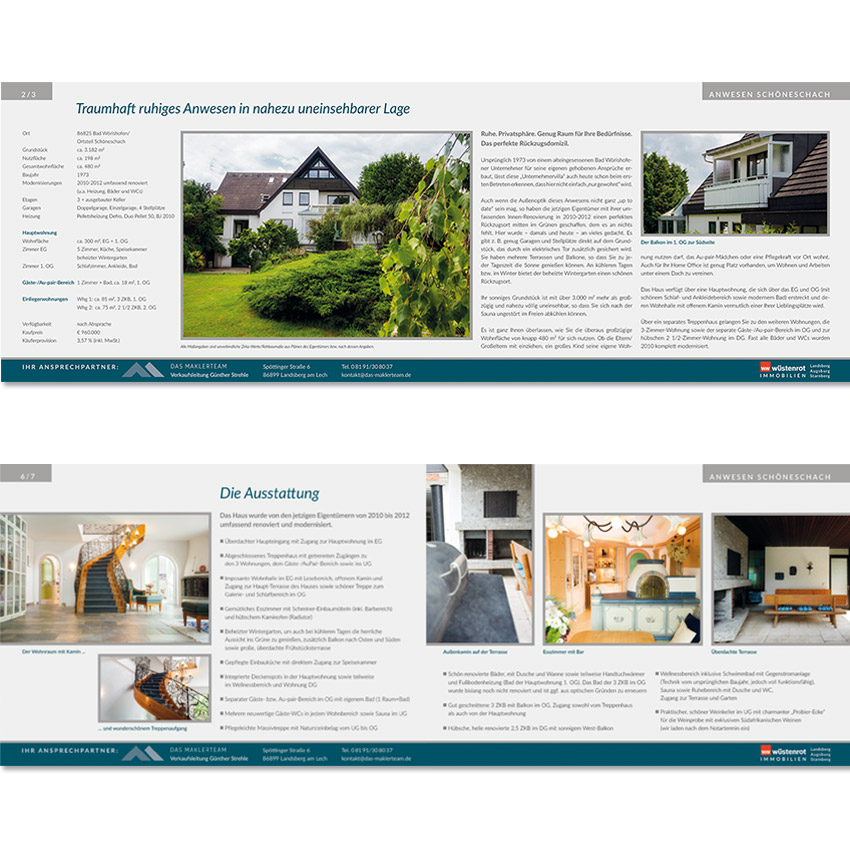 Layout Immobilienexposes Landsberg, Igling