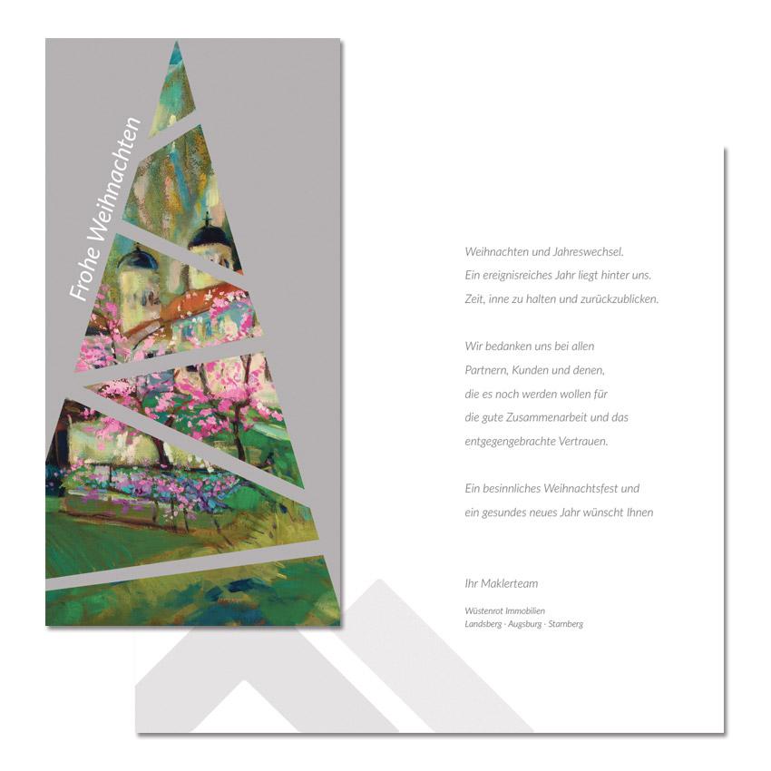 Gestaltung von Weihnachtskarten