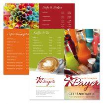 Gestaltung von Getränkekarten
