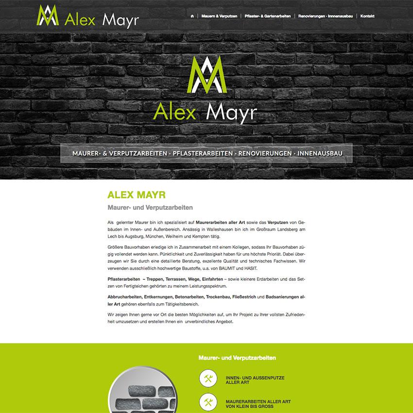 Webdesign für Mauerer & Verputzer