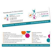 Visitenkarten für Physiotherapie Praxis