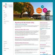 Internetseite für Physiotherapie Praxis