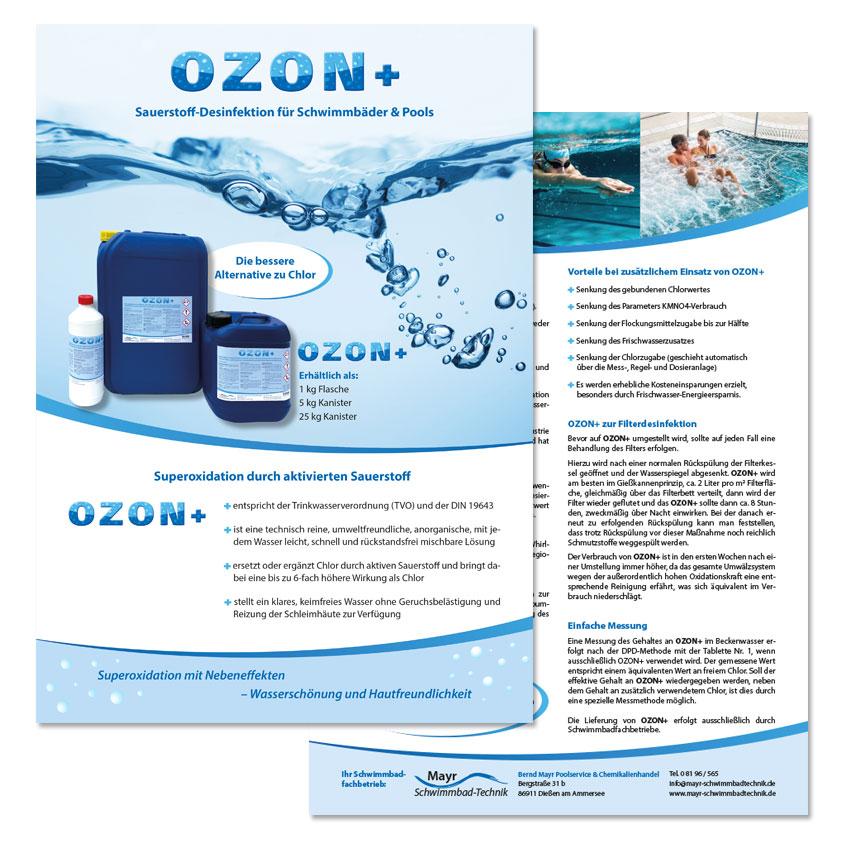 ozon+ Flyergestaltung