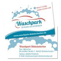Gestaltung Kundenkarten Waschautomat
