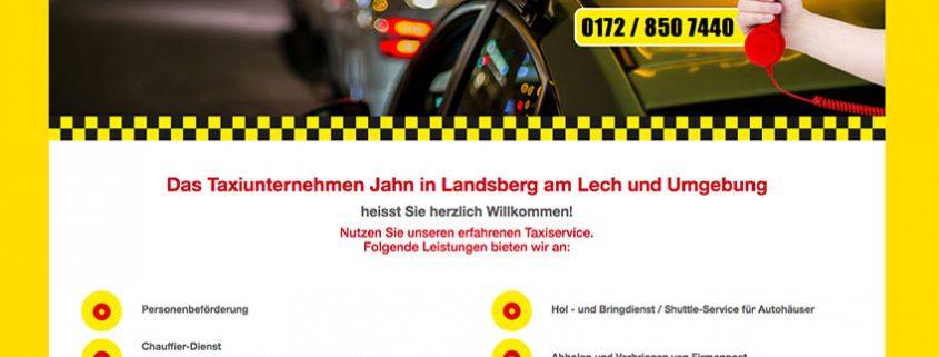 Taxi Jahn Landsberg Internetpräsenz
