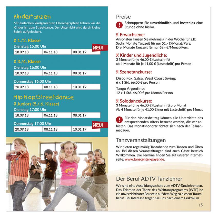 Tanzcenter Payer Kursprogramm